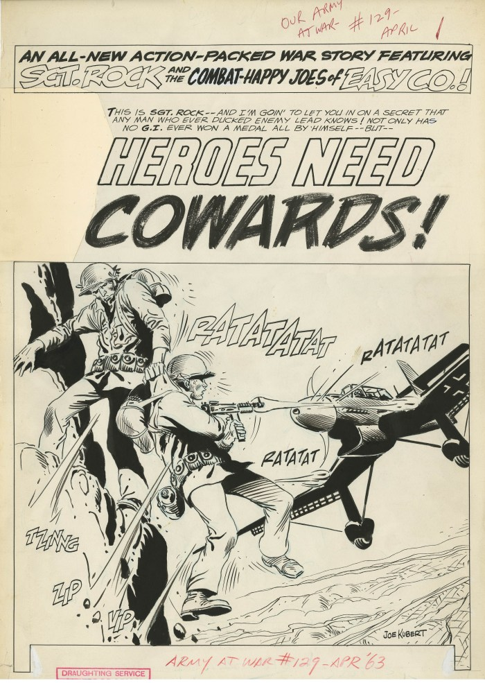 Joe Kubert's splash page for Our Army at War #129