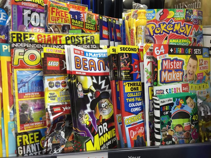 Wrongly racked: WHSmith Lancaster mis-racked Issue Two of Comic Scene in the children's comics and magazines shelving, when it should be in the area alongside INFINITY, SFX and Doctor Who Magazine where its target audience would be more likely to find it