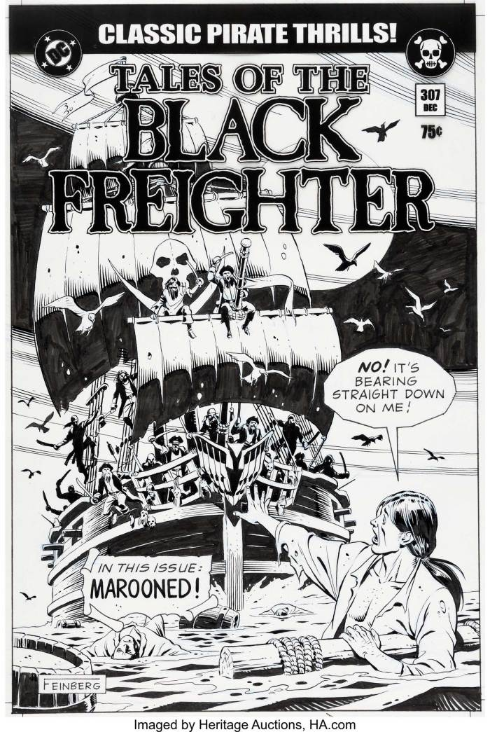 """Tales of the Black Freighter"" Prop Comic Cover, by Dave Gibbons"