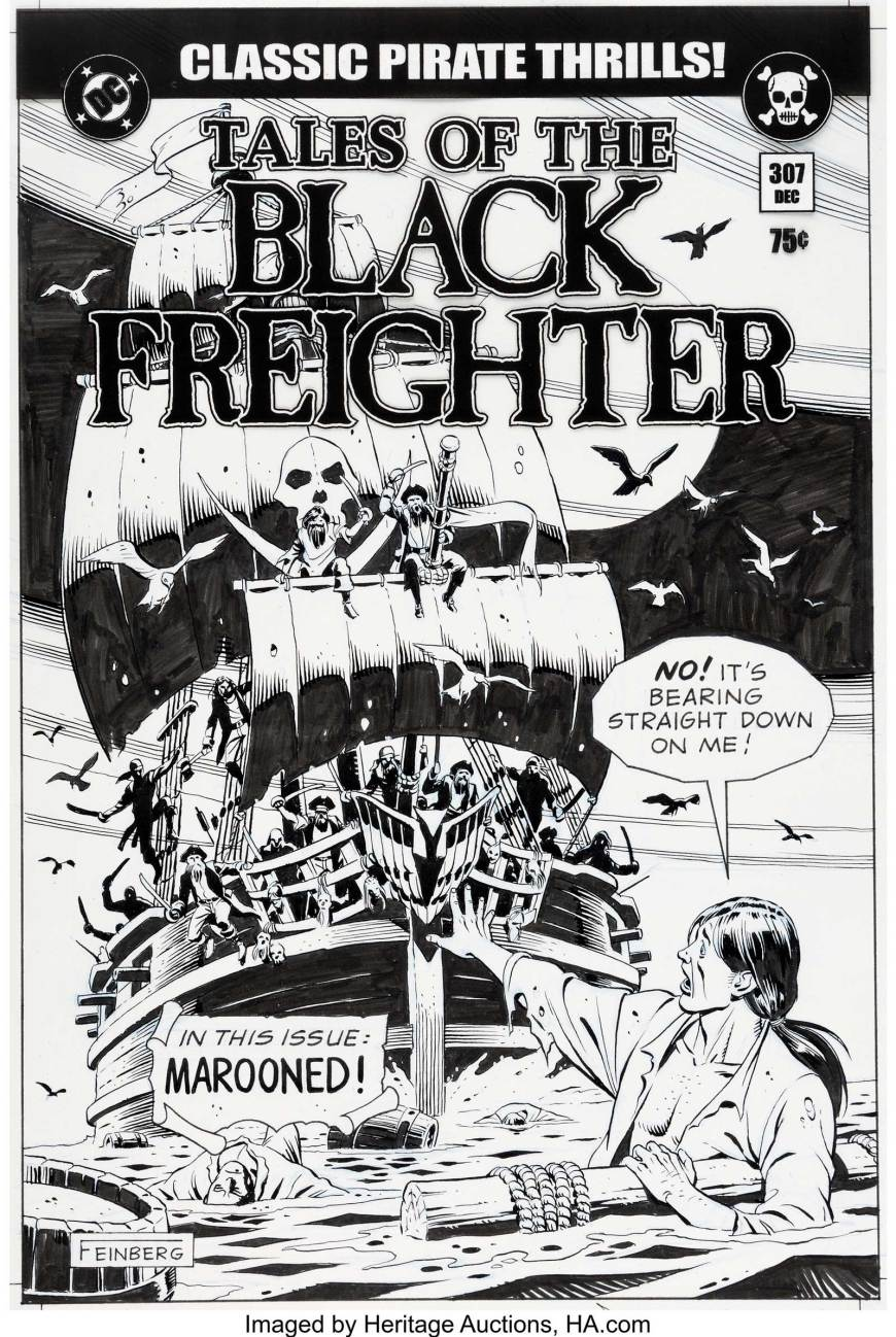 """""""Tales of the Black Freighter"""" Prop Comic Cover, by Dave Gibbons"""