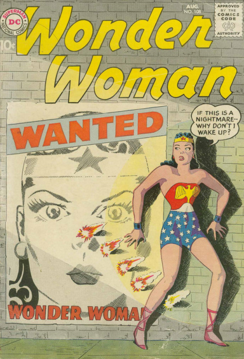 Wonder Woman Volume One #108 (1959), story written by Robert Kanigher, penciled by Ross Andru, inked by Mike Esposito