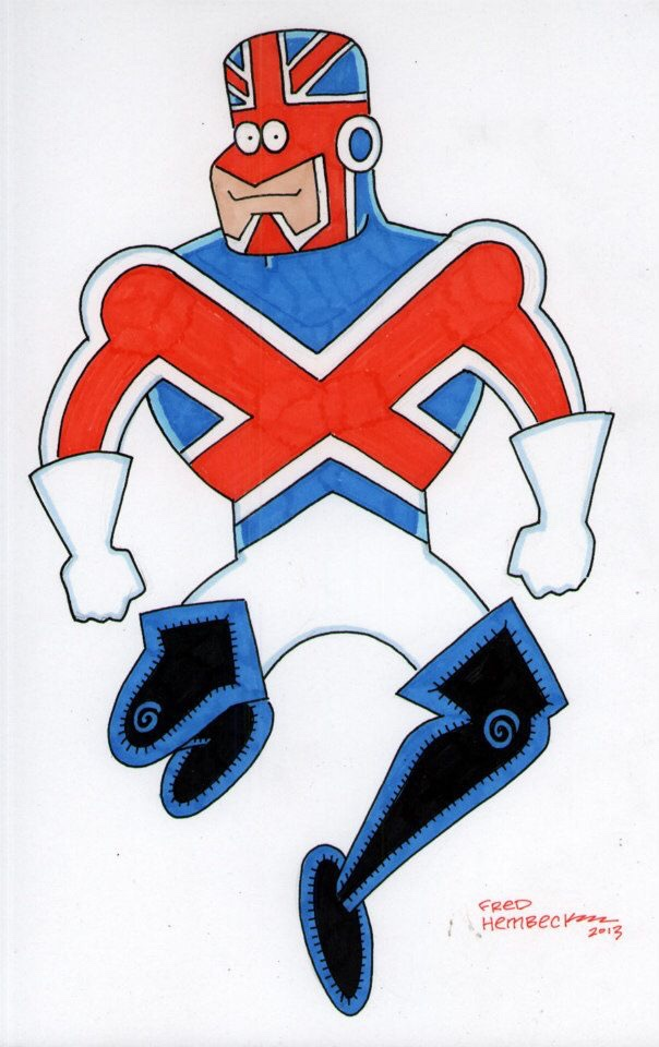 Captain Britain by Fred Hembeck