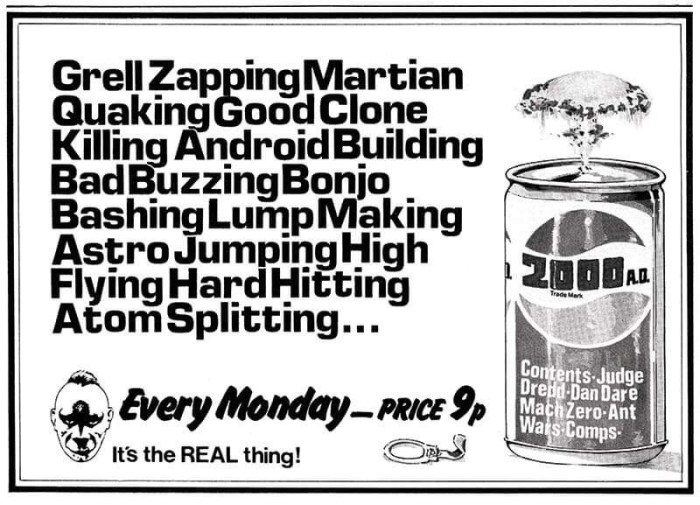2000AD Ad by Kevin O'Neill