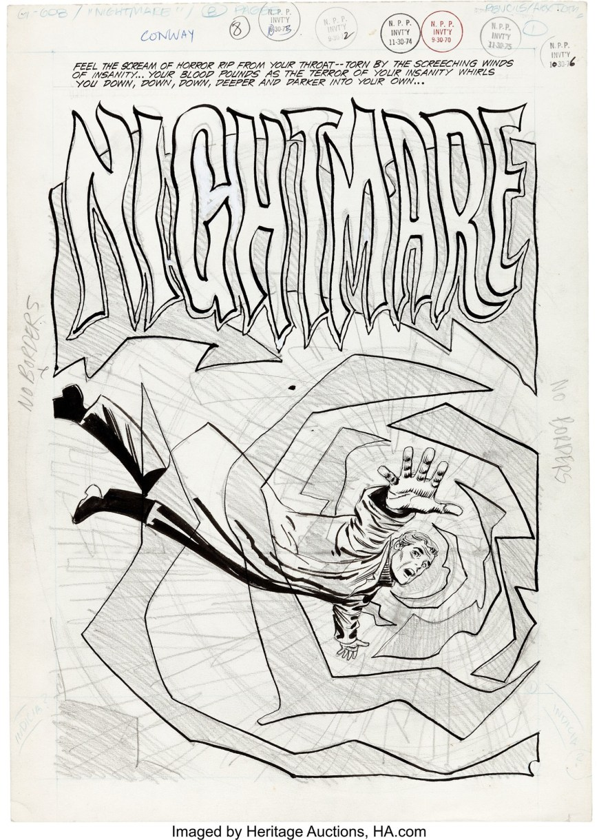 """Nightmare "" by Alex Toth, for DC Comics, 1970. Unpublished"