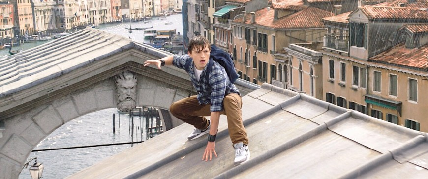 Tom Holland is Peter Parker, in Columbia Pictures' in Columbia Pictures' Spider-Man: Far From Home
