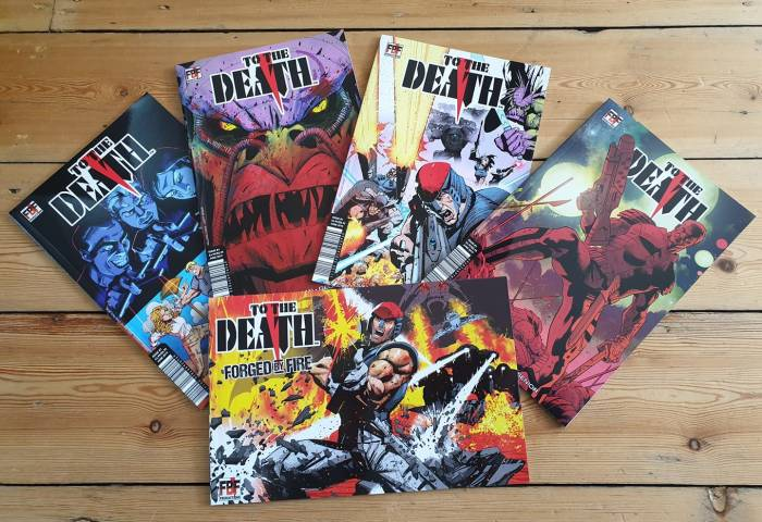 To the Death #1 plus variant covers