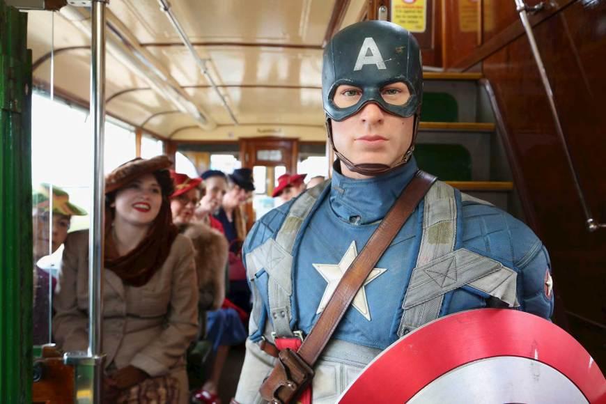 Captain America arrives in Blackpool. Image: Madame Tussauds Blackpool