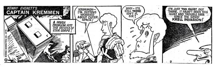 Captain Kremmen Newspaper Strip Sample 2