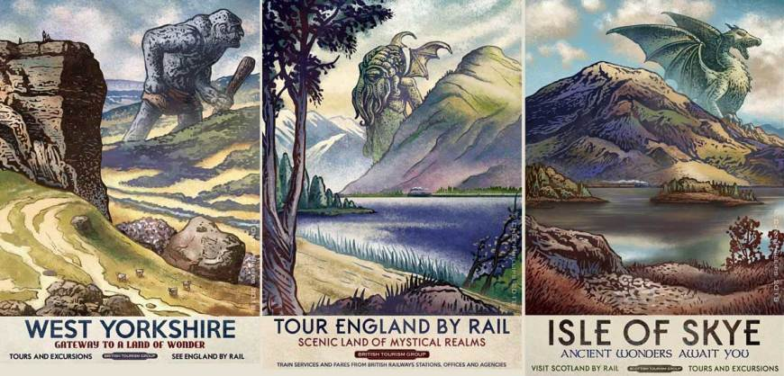 British Travel Posters Reimagined by Chet Phillips