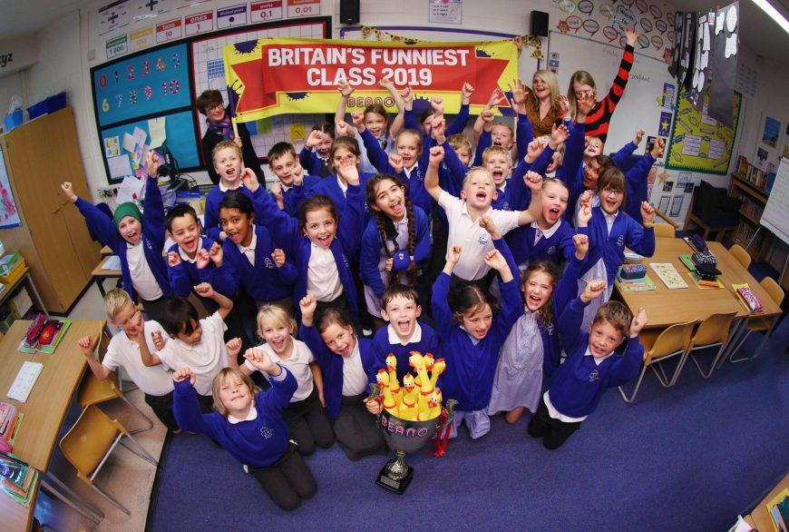 Foxes class from Castlewood Primary in Horsham, West Sussex have today been revealed as the winners of Beano's Britain's Funniest Class national joke competition