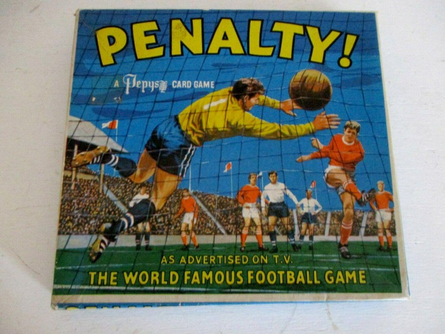 Penalty - Pepys Football Card Game Cover Art - As published