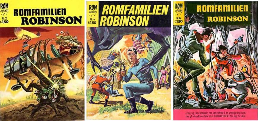 Some issues of Romserien published in Norway by Illustrerte Klassikere / Williams Forlag, which launched in 1967