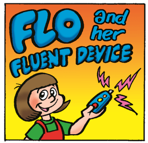Flo And Her Fluent Device by Lew Stringer