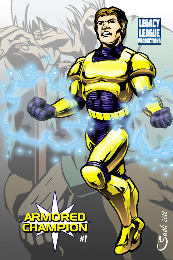 Armored Champion, one of many projects Lawrence has developed down the years in US independent comics