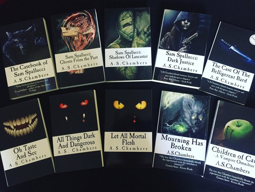 Some of the many fantasy novels of A.S. Chambers