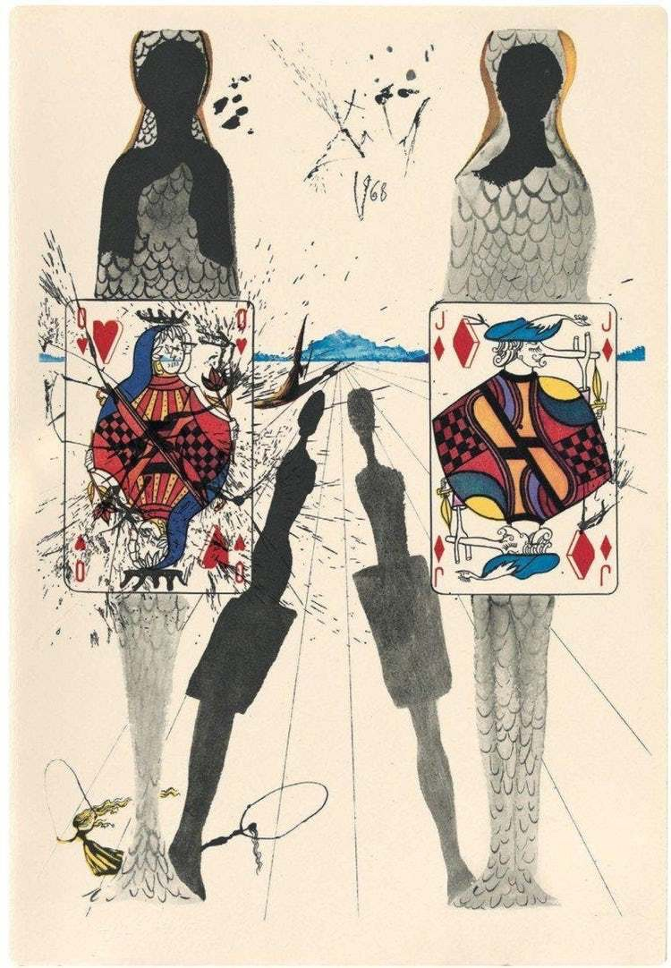 Alice's Adventures in Wonderland - The Croquet Game by Salvador Dali