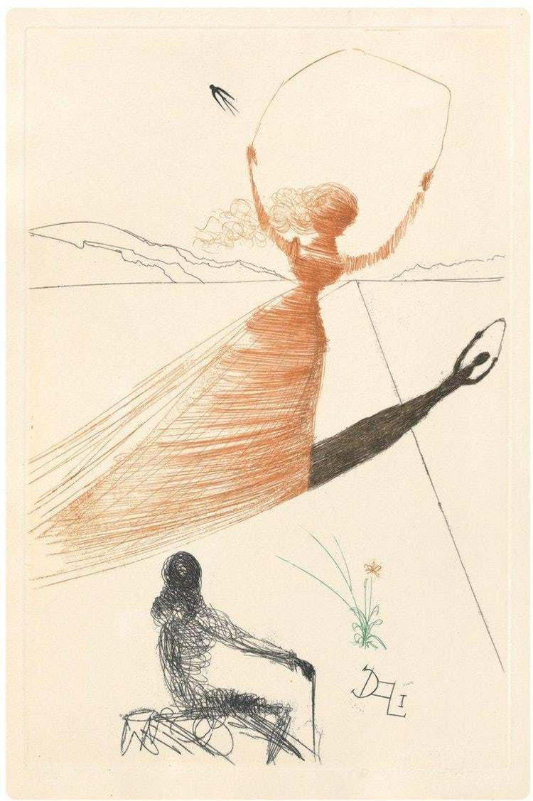 Alice's Adventures in Wonderland - Frontispiece by Salvador Dali