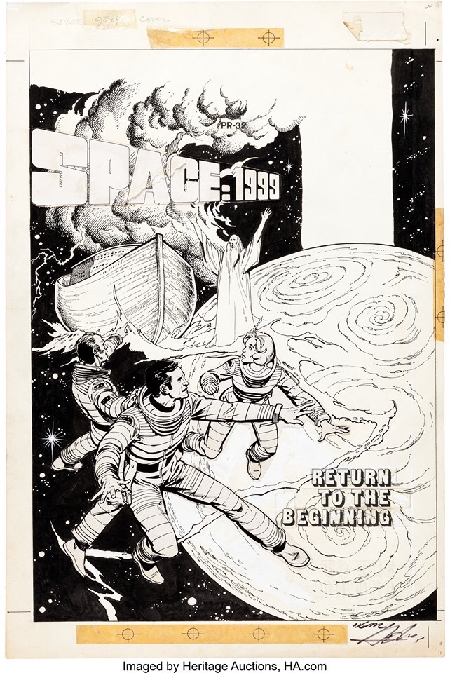 "Dick Giordano and Neal Adams Studio Space: 1999 #PR32 Front and Back Cover Original Art and ""Book and Record"" Set"