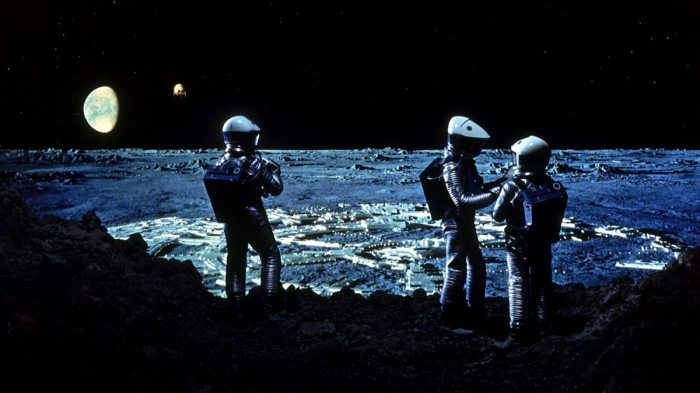 One of the striking matte shots Joy Cuff worked on for 2001: A Space Odyssey. Image © Warner Bros