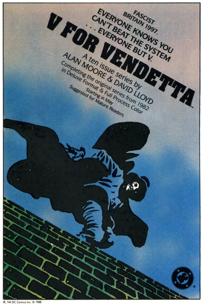 V for Vendetta Mini Series ad 1988