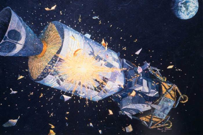 """""""Houston, We Have a Problem"""" painted by Apollo 12 astronaut Alan Bean"""