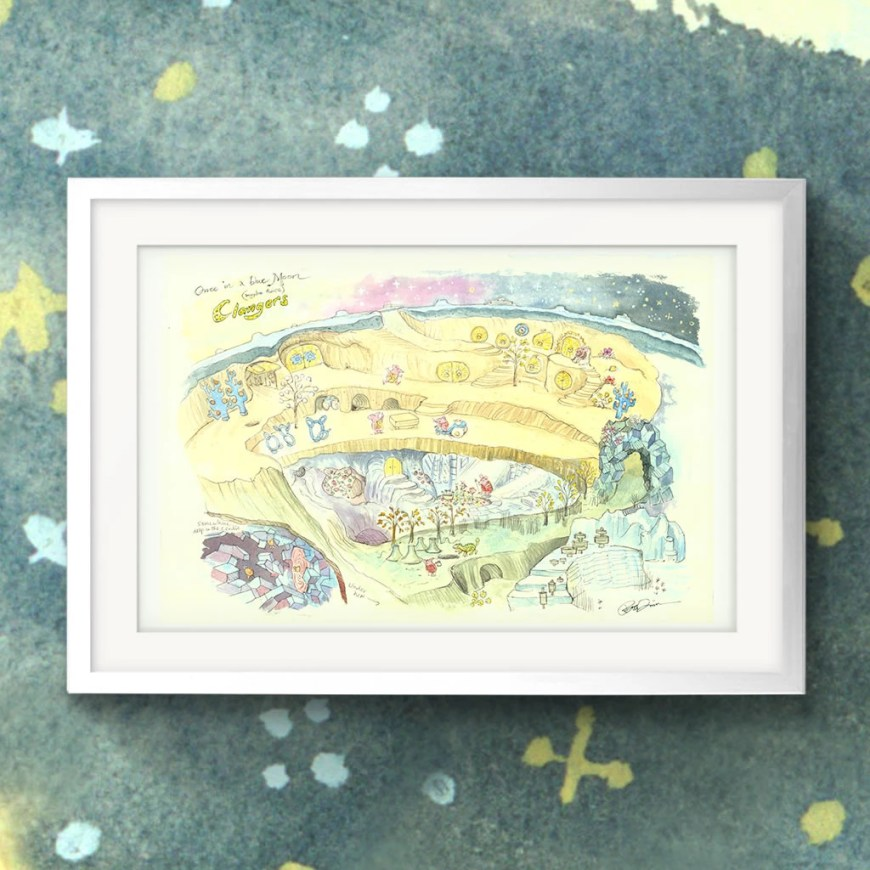 """Clangers - """"Once in a Blue Moon [Maybe Twice]"""" by Peter Firmin"""