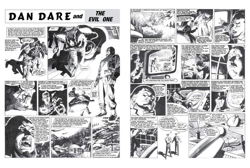 Dan Dare: The Evil One - Sample Art