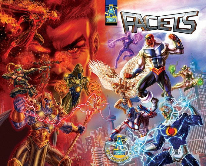 Advent Comics Facets Tenth Anniversary Cover by Sam Santos