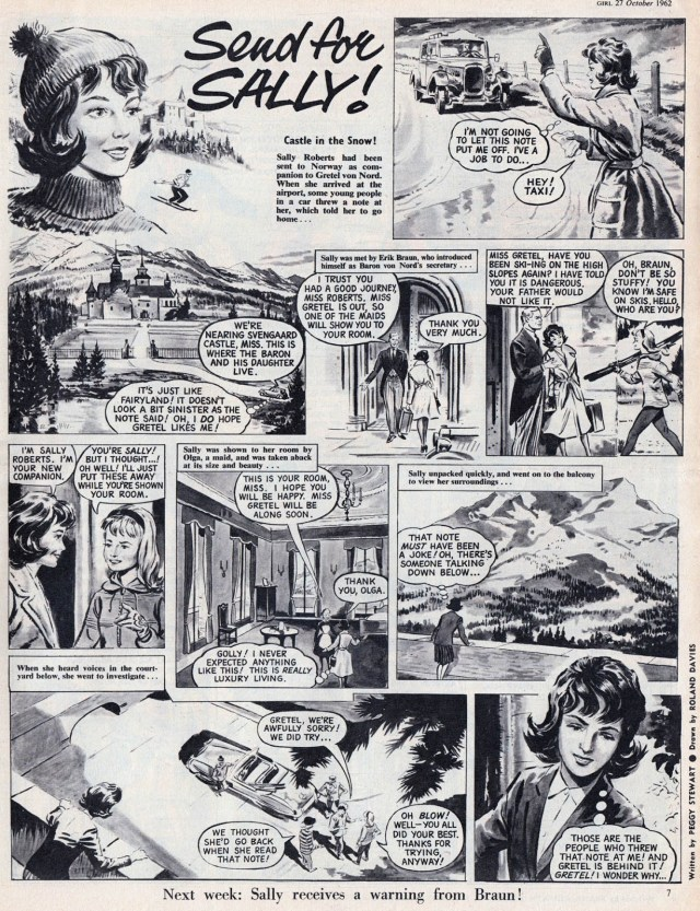 """""""Send for Sally!"""" written by Peggy Stuart, art by Roland Davies. With thanks to Lew Stringer"""