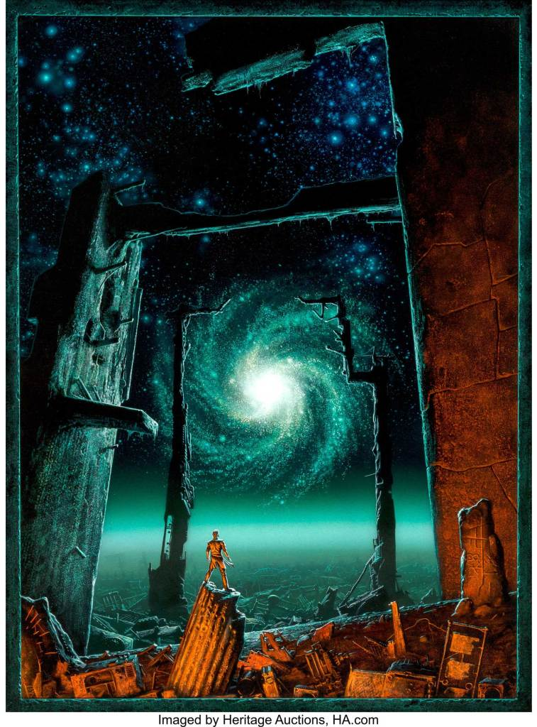 Michael Whelan's Foundation's Edge paperback cover, 1983