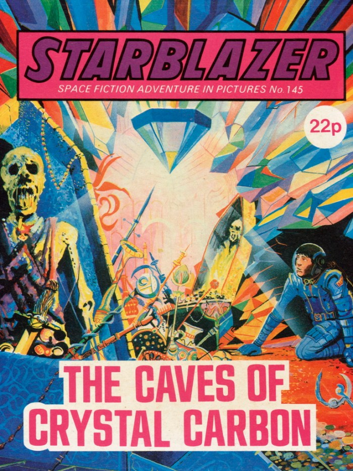 Starblazer 145: The Caves of Crystal Carbon