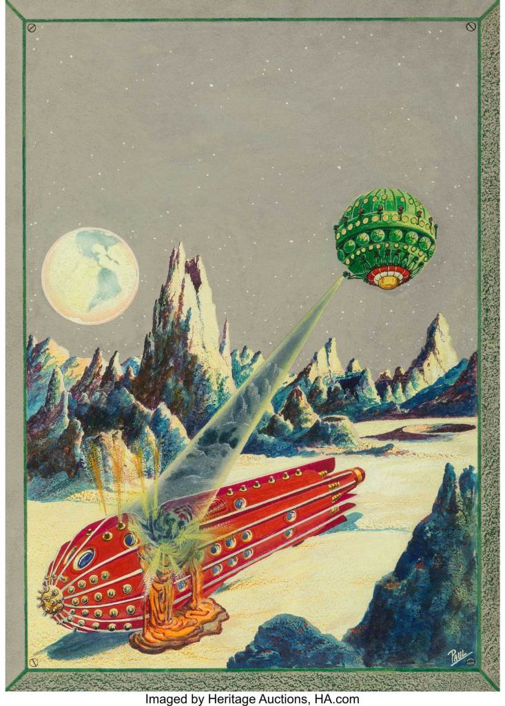Frank R. Paul (American, 1884-1963). The Moon Conquerors, Science Wonder Quarterly cover, Winter 1930