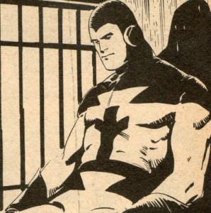 "A panel from ""Johnny Future"", written by Alf Wallace, art by Luis Bermejo"