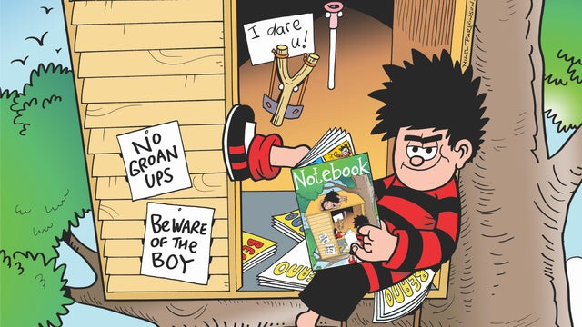 Dennis the Menace in a Treehouse © Beano Studios/ DC Thomson