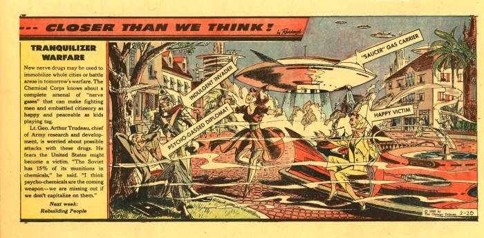 """Closer Than We Think!"" by Arthur Radebaugh - Tranquilliser Warfare"