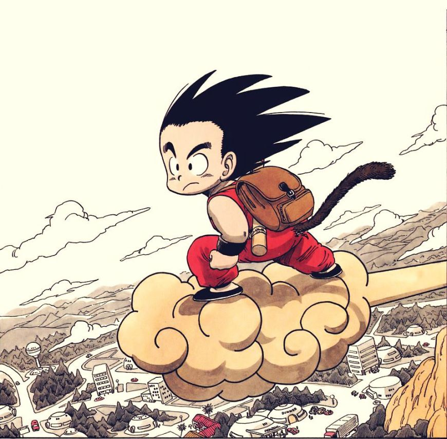 An example of Akira Toriyama's Dragonball art, found online