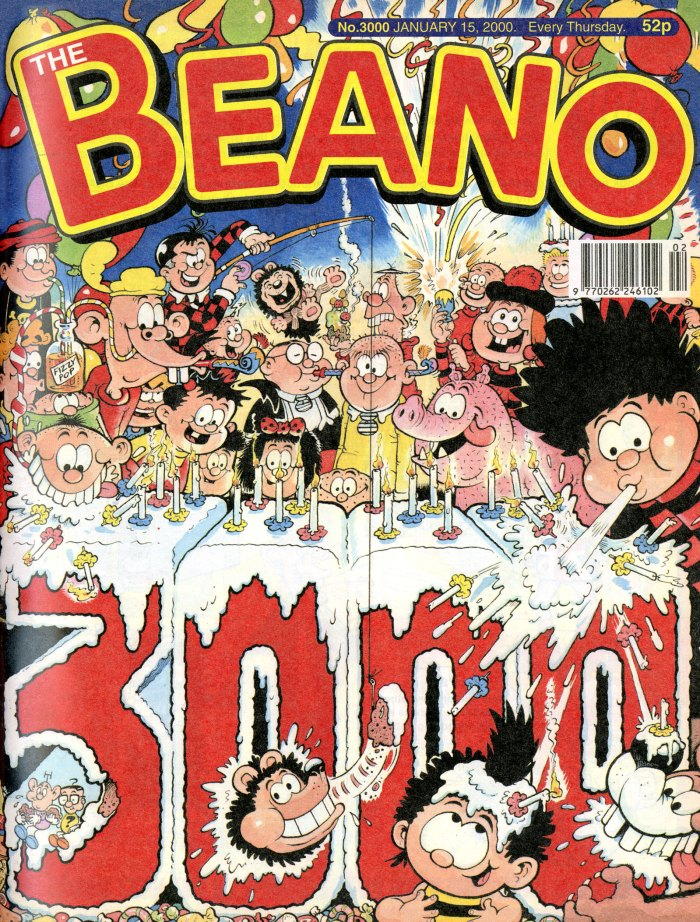 Beano No. 3000, cover dated 16th January 2000