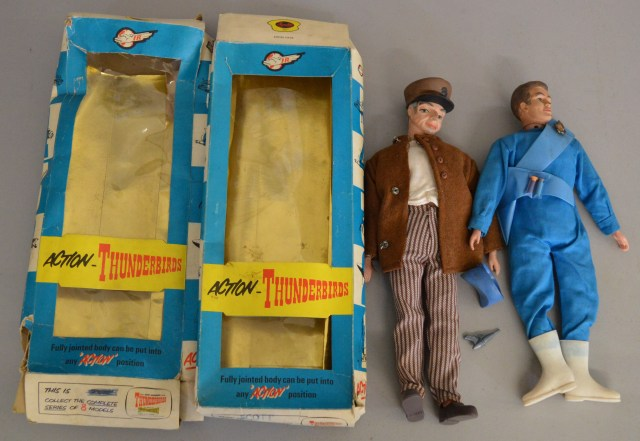 "Fairylite ""Thunderbirds"" Figures - Scott Tracy and Parker"