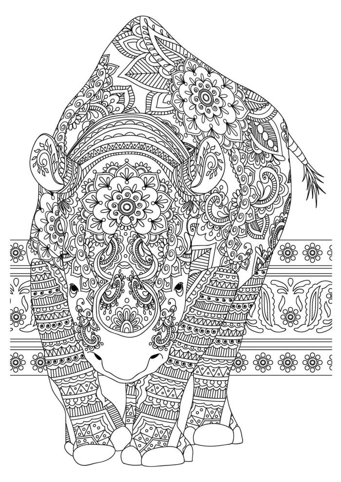 One of Nigel's intricate illustrations for his colouring book work