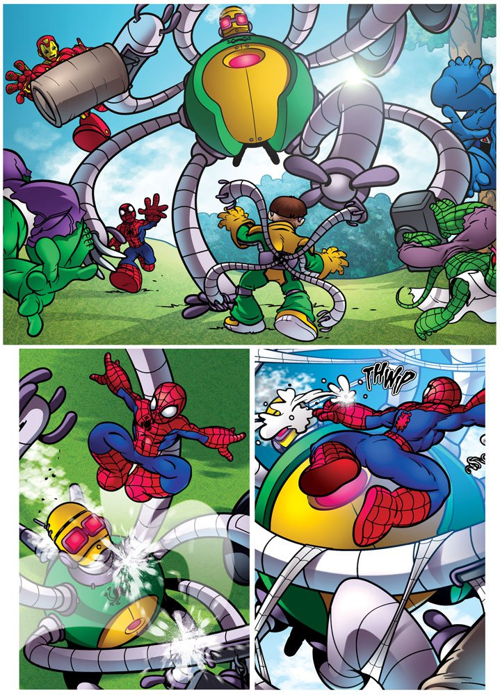One of Nigel's final pages for Panini's Spider-Man and Friends, published in 2011.