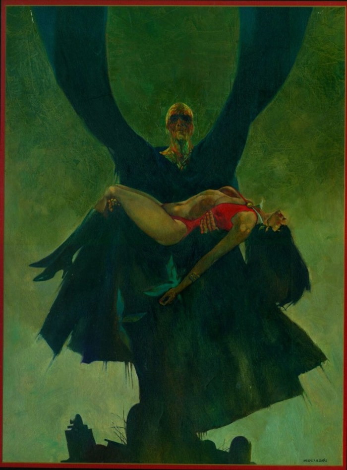 Cover art for Warren Publishing's Vampirella #12 by Sanjulián