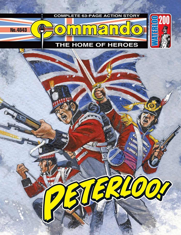 """Commando Issue 4843 - """"Peterloo!"""" Cover, set at Waterloo, by Carlos Pino"""