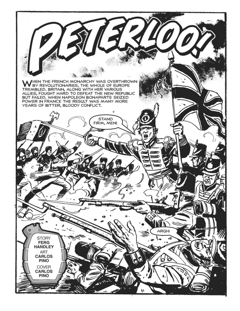 Commando Issue 4843 - Peterloo! - art by Carlos Pino