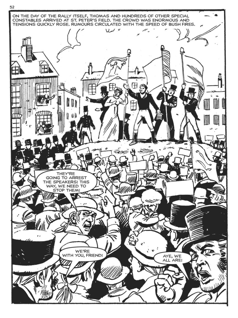 St Peters Field, 16th August 1819. From Commando Issue 4843 - Peterloo!