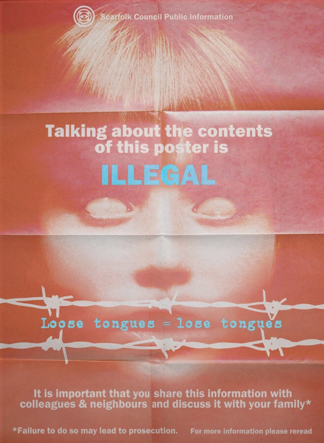 Scarfolk: Talking about the Contents of this Poster is Illegal
