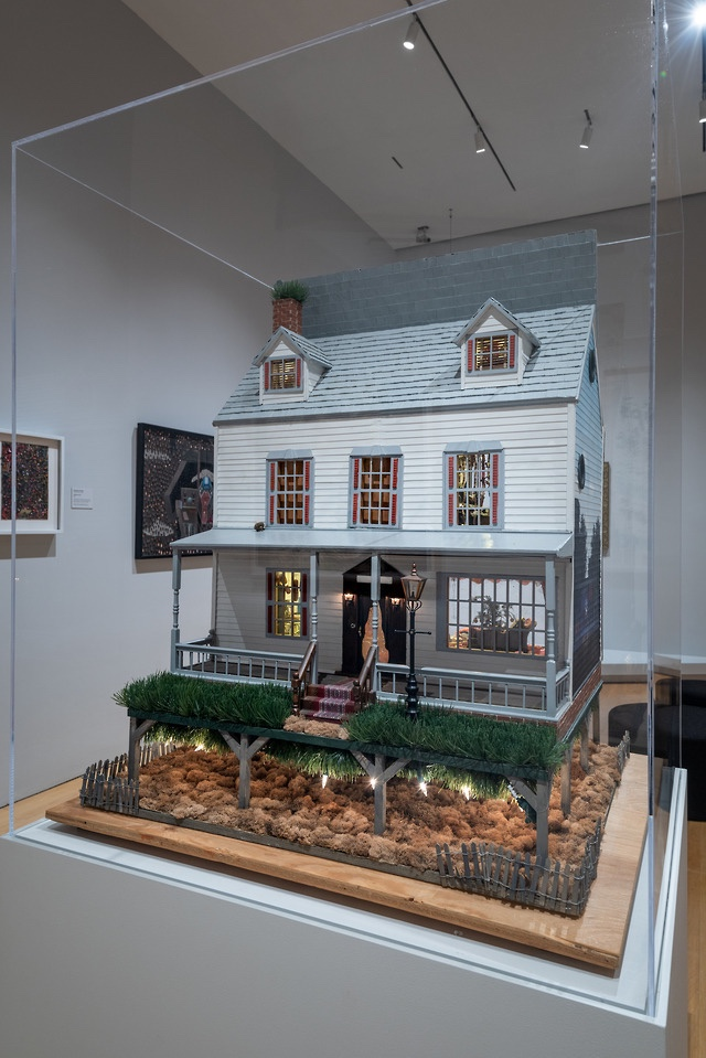 """The Stein-Toklas Dollhouse of Judith Young-Mallin,"" dollhouse purchased 1970s; contents assembled 1980s–mid-2000s"