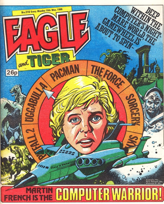"A ""Computer Warrior"" cover for Eagle - cover dated 10th May 1986. Art by Mike Western"