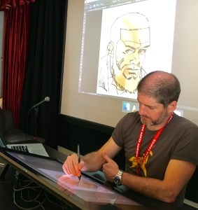 Walking Dead artist and Festival patron Charlie Adlard at the 2018 annual event