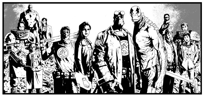 The BPRD Team - art by Laurence Campbell