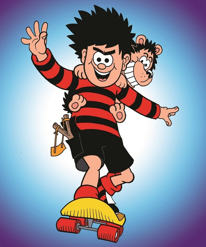 Dennis and Gnasher by Nigel Parkinson © Beano Studios